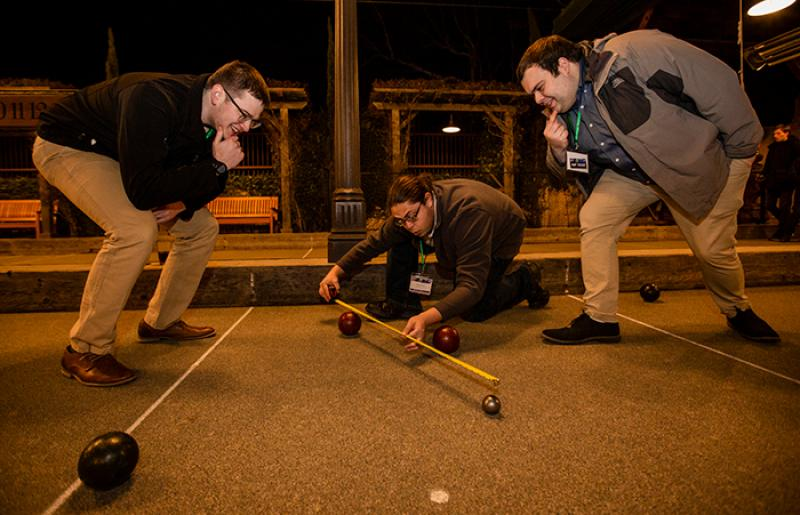 OSU HEDP members playing boccee ball at NLF-JHF Conference
