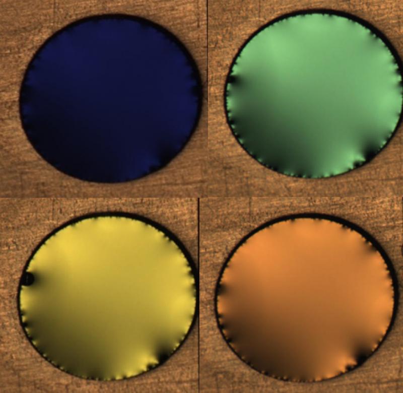 liquid crystal laser films
