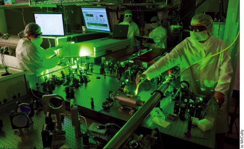 staff aliging laser