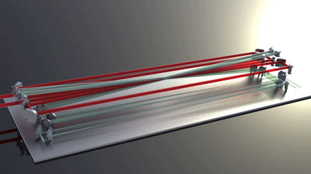 Rendering of the laser